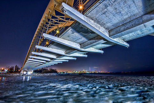 Below the Humber Bay Arch Bridge, Toronto Ontario
