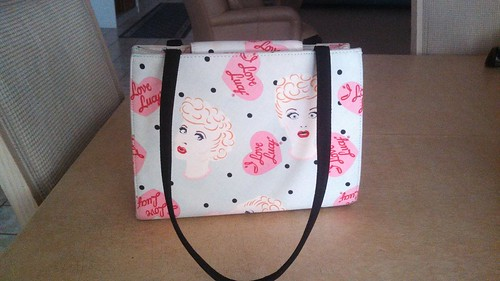 Retro I Love Lucy purse found out thrifting
