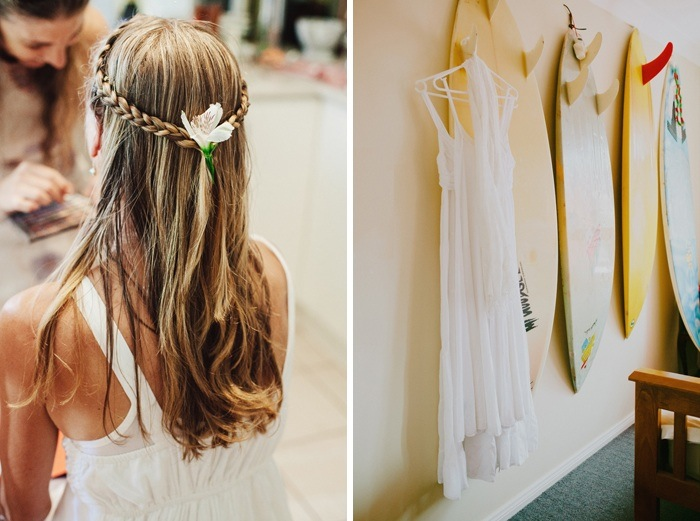 Backyard Wedding - hair and dress