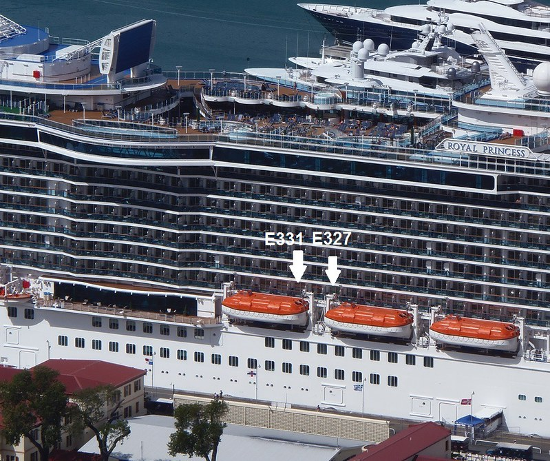 Crown Princess obstructed view Cabin E321 - YouTube