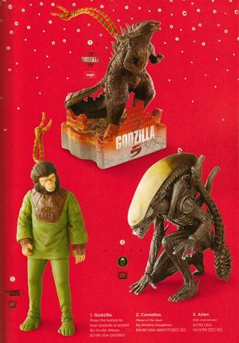 Hallmark Apes, Godzilla & Alien 2014