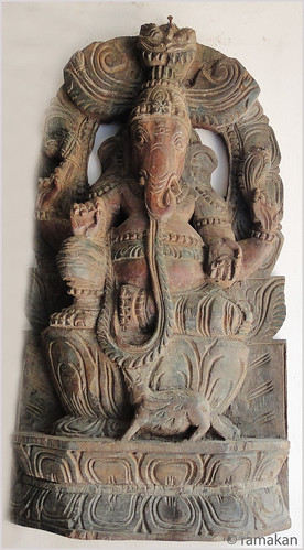 Ganesha a wood carving