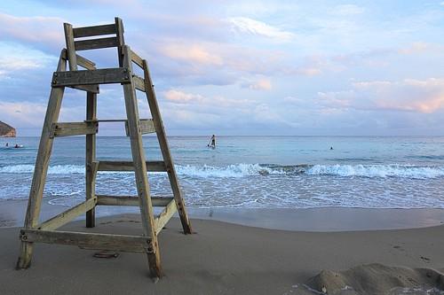 sea beach clouds strand chair horizon wolken zee stoel strandstoel