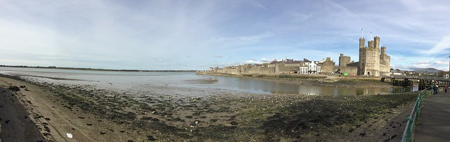 Caernarfon Castle and Menai Strait Panoramic