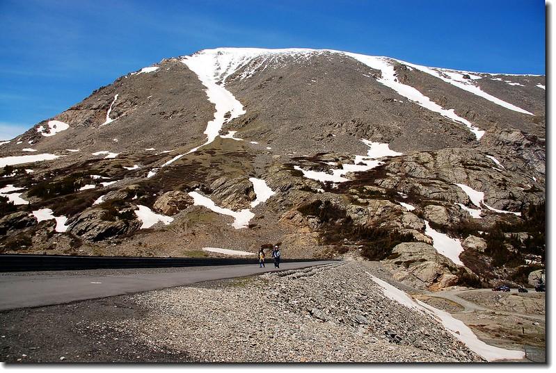Quandary Peak as seen from Blue lake dam
