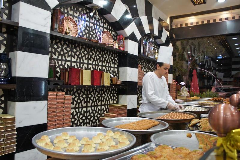 Syrian sweet shop Asail Al Sham in Diera, Dubai