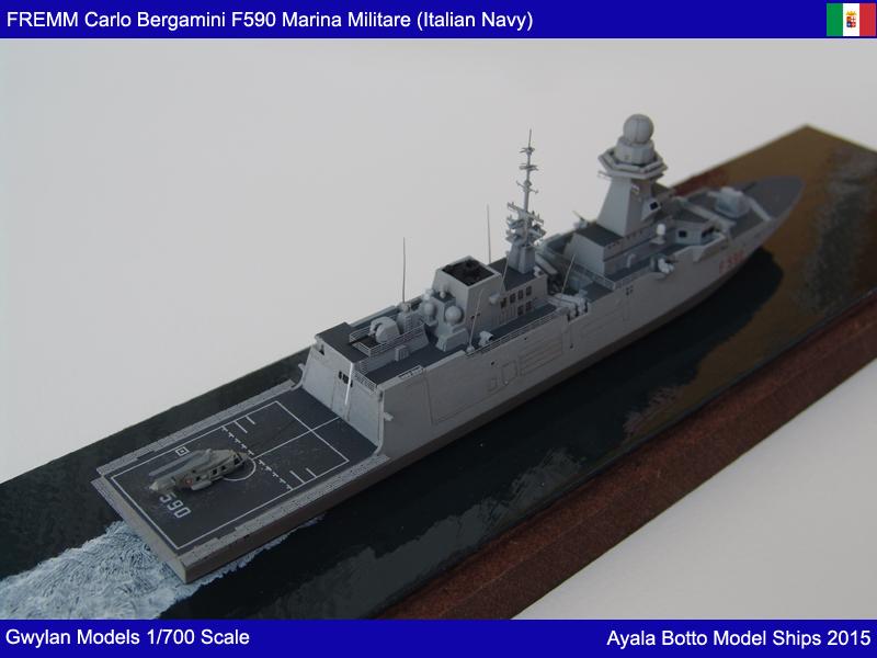 FREMM Carlo Bergamini F590 Frégate - Gwylan Models 1/700 19781352181_40feaa4802_o