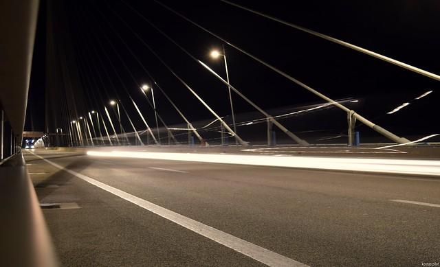 Rion-Antirrion Bridge traffic trails