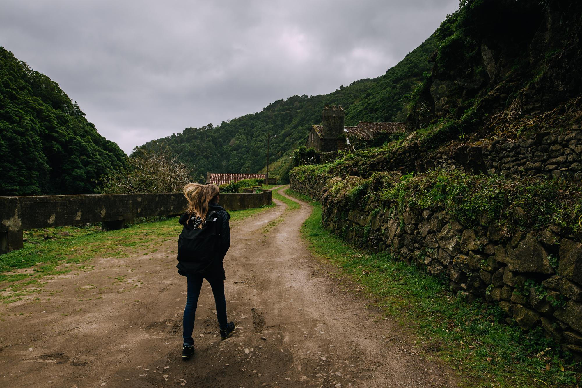 Faial de Terra felé vezető út