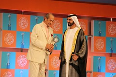 Arab Journalism Awards Ceremony 2013  H.H. Sheikh Mohammed Bin Rashid Al Maktoum and Hamdy Kandil