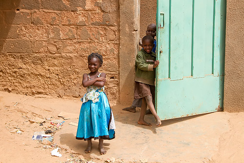 Children playing in Ouagadougou, Burkina Faso.