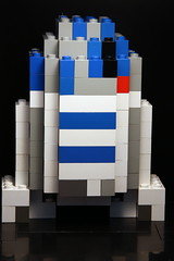 3D R2D2 version of a pixel art