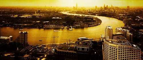 city uk light sunset england urban orange london water yellow thames skyline buildings river landscape boats cityscape skyscrapers britain outdoor dusk gb uploaded:by=flickrmobile flickriosapp:filter=nofilter
