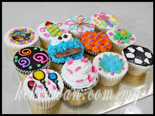 Personal Class Bake & Deco: Basic Buttercream Cupcakes & Cake ~ 8 May 2013