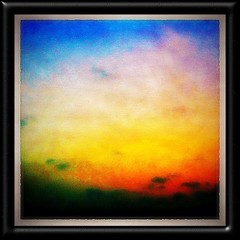 #Sunset Gradient #Framed! - #Karachi #Dusk #Sky #Beautiful #colours #blues #yellow #orange #lovely #painterly