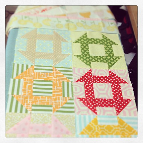 Claire's placemats are coming along nicely!   Hope to have them finished this week!  No work = sewing time!  :)
