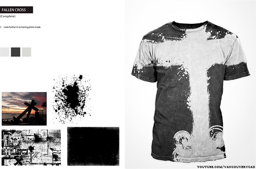 fallen cross tshirt design by the VCAD student Jordan W