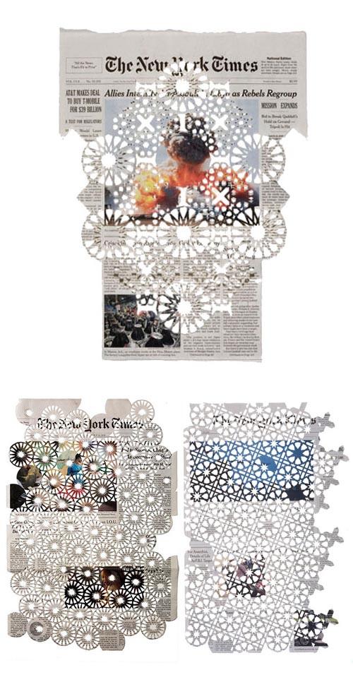 Donna Ruff - cut paper works