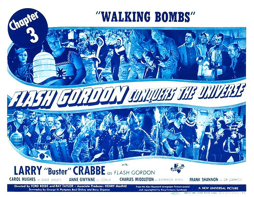 Flash Gordon Conquers the Universe, Chapter 3, Walking Bombs...Lobby Card (11
