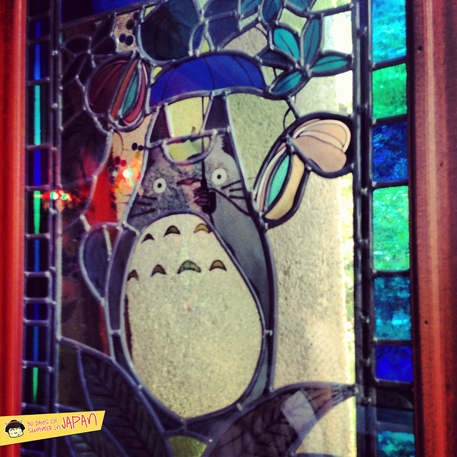 Ghibli Museum Mitaka, Japan - totoro stain glass window 2