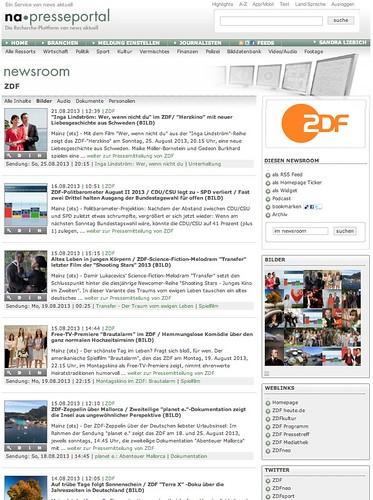 ZDF-Newsroom im Presseportal