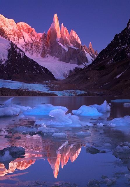 Crimson Crags, Cerro Torre, Patagonia.