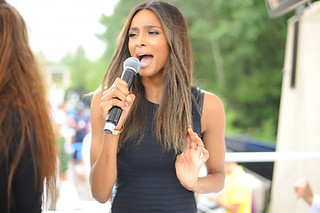 Ciara Rocking a tight black dress