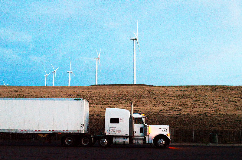Truck and Wind Turbines