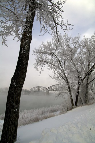 snow reflection sunrise frost missouri northdakota riverbottom riverbottoms pwwinter