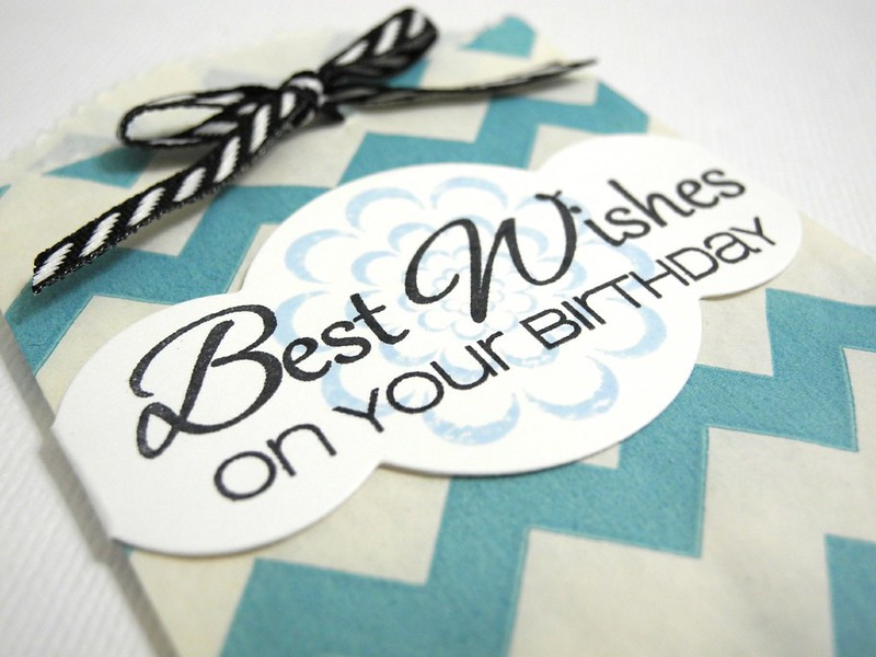 Best Wishes Gift Card Bag (detail)