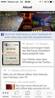 Pottblog-App (via Chayns von Tobit)