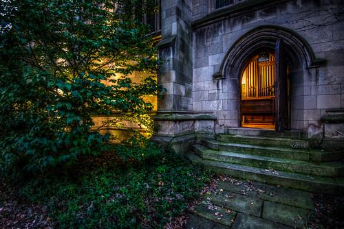 autumn sunset chicago fall college church leaves night campus evening illinois nikon university chapel bond nikkor d600 1635mm