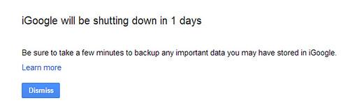 iGoogle Closing