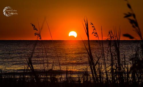 sun solar eclipse unitedstates sony southcarolina surfsidebeach 2013