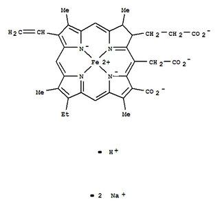 鐵葉綠素納iron cholorophyllin結構式。圖片來源:邱品齊