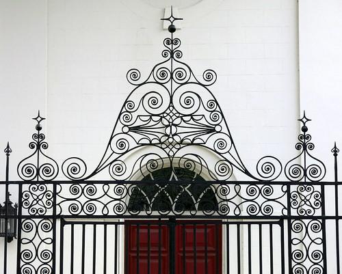 architecture wroughtiron abraham f reeves jacob s roh st saint john lutheran charleston sc southcarolina spencermeans hunkypunk church gate portico