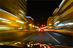 Long Movement Exposure while driving, Downtown Tacoma, Washington