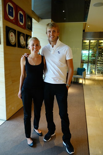 Chef Katrine Skeie & Chef Geir Skeie at Osia, Resorts World Sentosa.