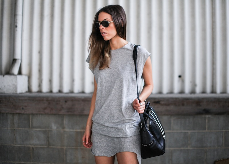 modern legacy fashion style blogger australia bassike grey muscle tank dress isabel marant sneakers black (2 of 2)