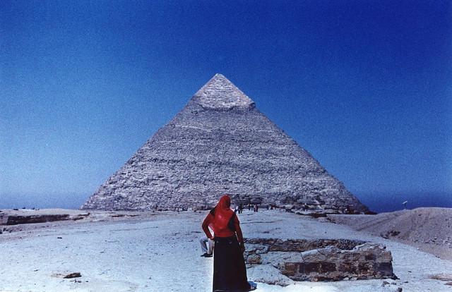 Woman at the Pyramid, Nikon F3