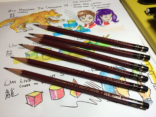 JetPens goodies for sketching kits