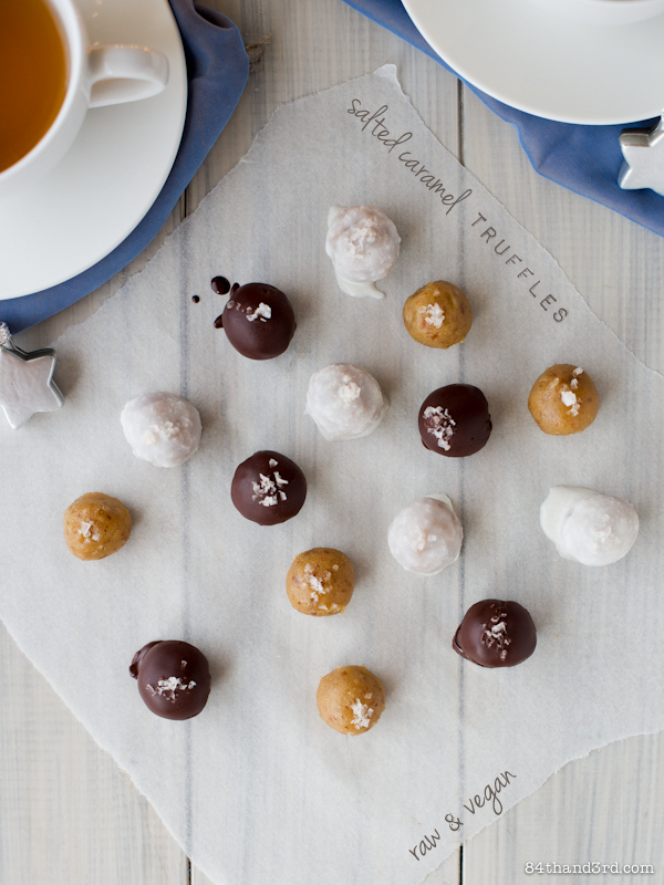 Salted Caramel Truffles - Raw & Vegan