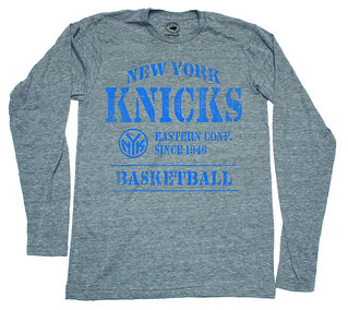 Sportiqe New York Knicks Long Sleeve T-Shirt - Gray