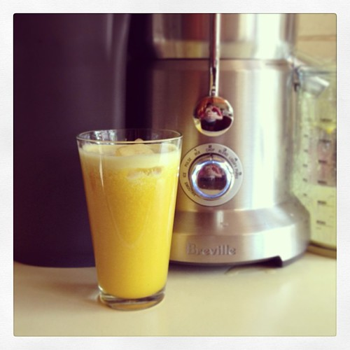 Today's #dailyjuice - golden beetroot, pineapple & ginger - @brevilleaus #eatfoodphotos  Dec 17 #fruity