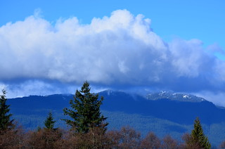 Mount Seymour seen from SFU