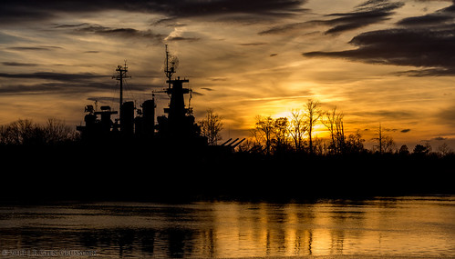 sunset sun river nc unitedstates northcarolina battleship wilmington 55 ussnorthcarolina capefearriver capefear