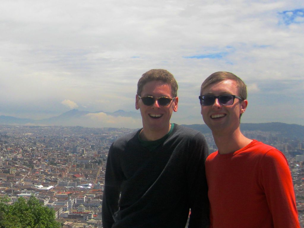 Sam and Zab in Quito