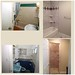 The bathrooms are totally different. We extended both bathrooms, so we could add the walk in shower in the master bath (bottom pictures). The hall bath we extended and moved the tub to the other side and took out the closet for more space.