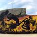 Mural por las victimas sindicales by Chirrete Golden APC