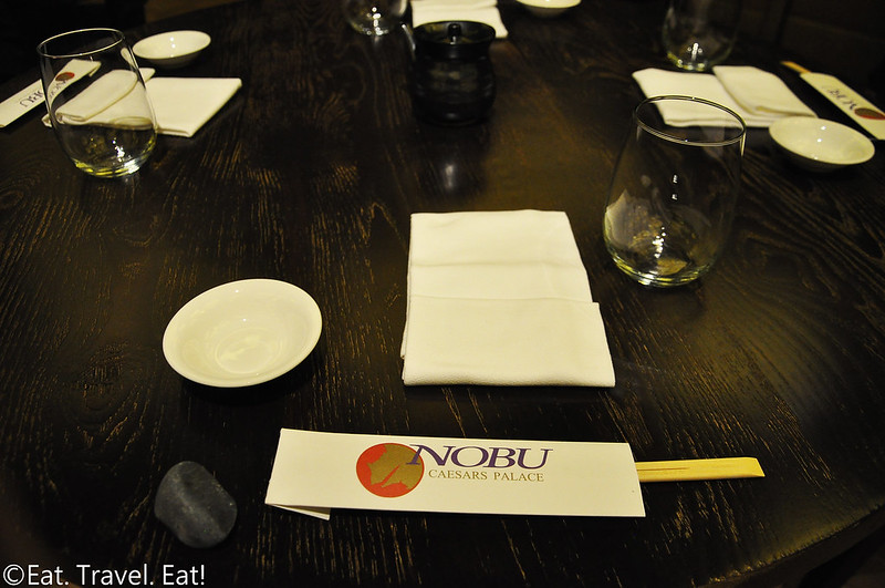 Nobu (Caesars Palace, Nobu Hotel)- Las Vegas, NV: Lunch Placesetting